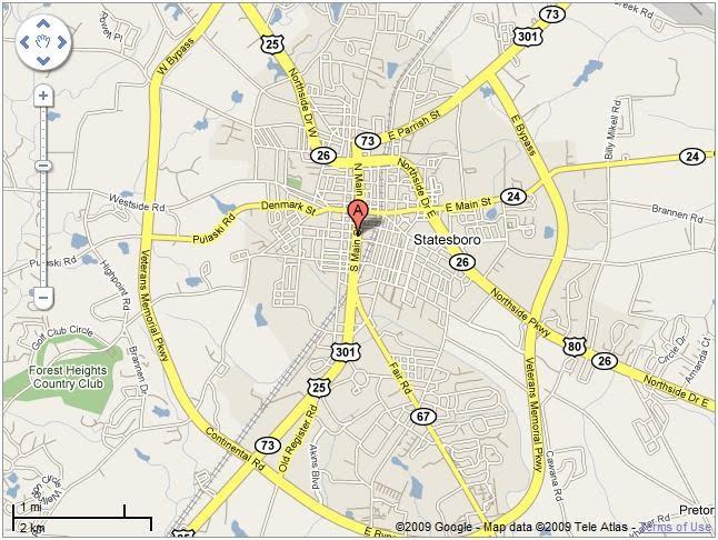 Map And Directions Beaver House Restaurant Statesboro Ga - Georgia map statesboro